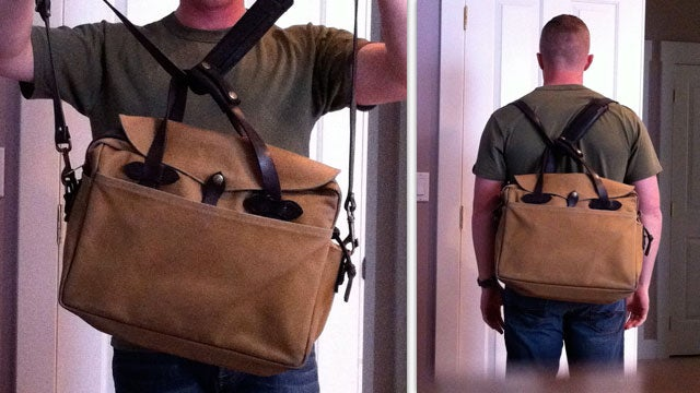 Turn Any Messenger Bag or Briefcase into a Backpack in an Instant