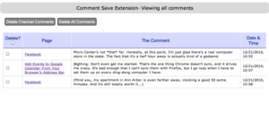Comment Save Keeps Track of Your Comments on the Web