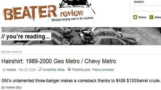 BeaterReview Rates and Reviews Used Cars in the $500-3,000 Range