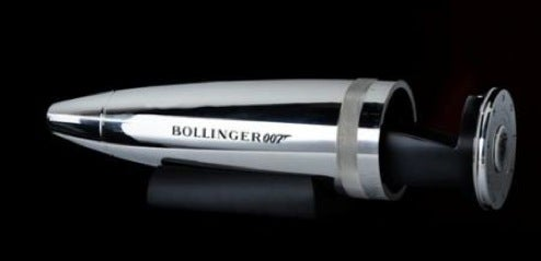 Bullet-Shaped Bollinger Champagne Cooler, For 007's Giant Gun