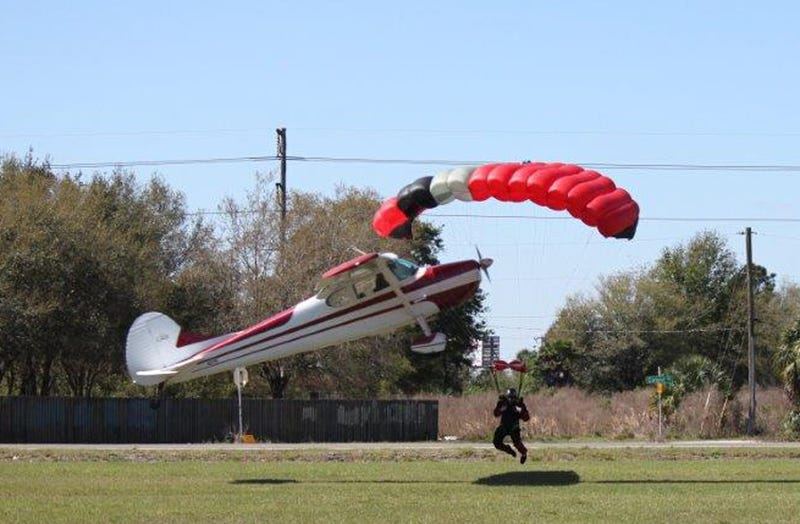 Photos: Plane Crashes Into Skydiver