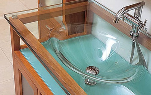 LineAqua Glass Sink Basin, a Mesmerizing Vortex of Toothpaste Spit
