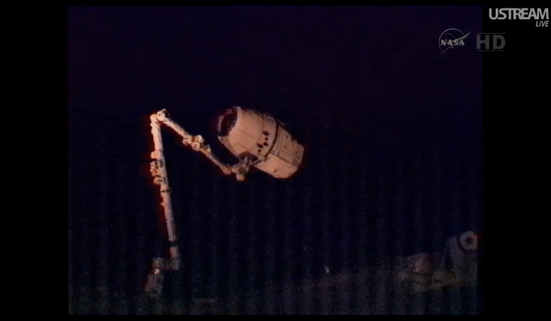 Watch Space X Dragon Make Its Historic ISS Dock Live (Updating)
