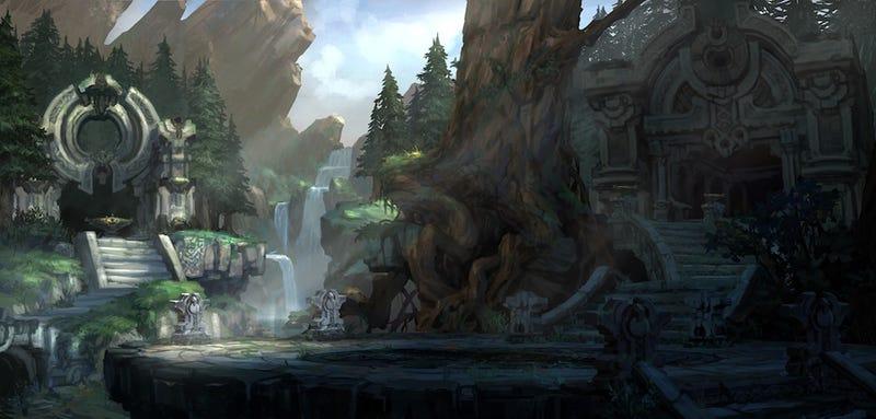 Darksiders II Environmental Concept Art