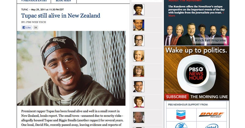 PBS Finds Tupac and Biggie Alive In New Zealand