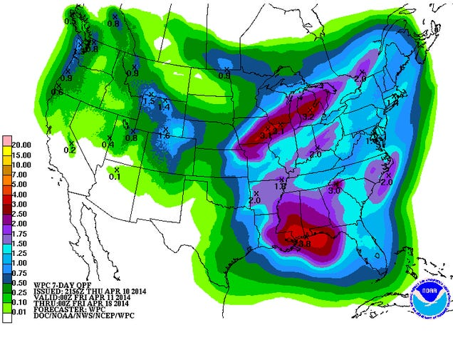 Possible Tornado Outbreak on Sunday, Heavy Rain on Sunday and Monday