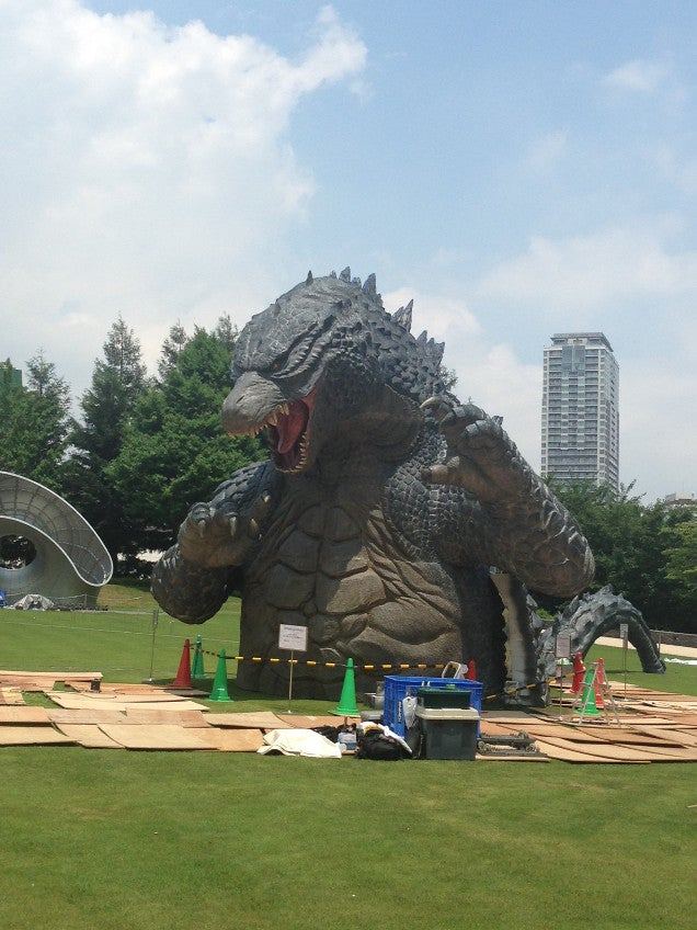 First Real Look at Tokyo's Giant Godzilla Statue