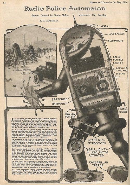 Hugo Gernsback's RoboCops of 1924