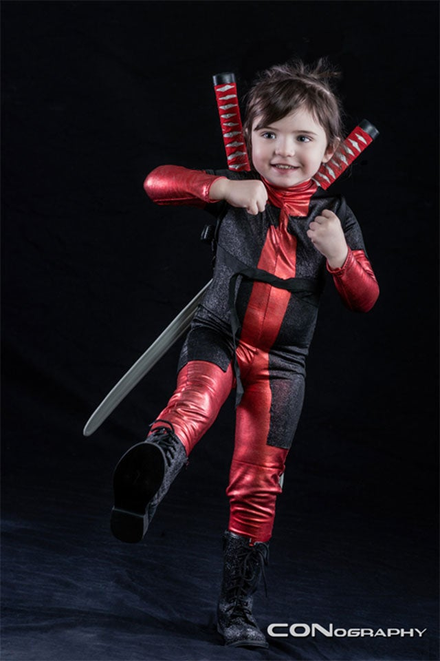 Let's Hope Little Miss Deadpool Doesn't Know Too Many Bad Words