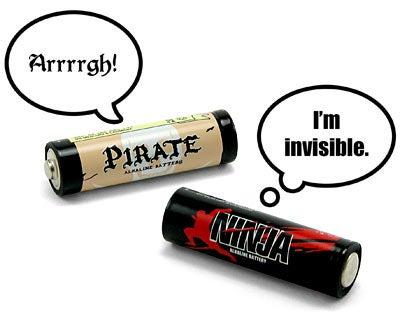 Pirates vs. Ninjas Batteries (Verdict: Pointless)