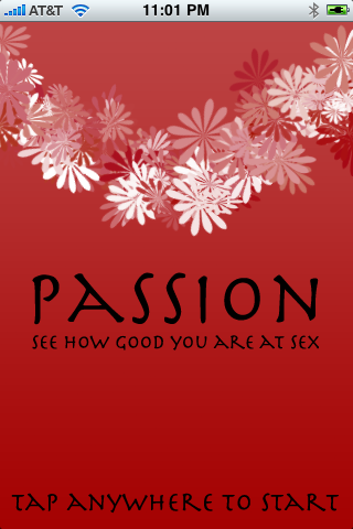 Passion iPhone App Will Let You 'See How Good You Are at Sex'