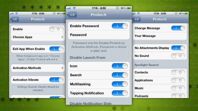 Protecti for iPhone Locks Specific Apps, Hides Notifications, and Disables Settings with a Gesture