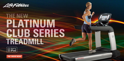 Platinum Club Treadmill With iPod Dock, 15-inch LCD