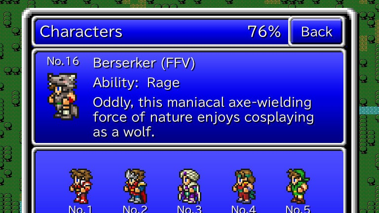 If There's One Reason to Play Final Fantasy: All the Bravest, It's The Hilarious Flavor Text