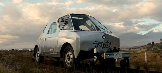 This Aluminum Car Was Built To Run On Abandoned Railways