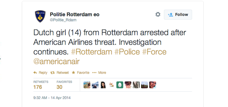 Confirmed: Tweeting Al Qaeda Jokes At Airlines Will Get You Arrested