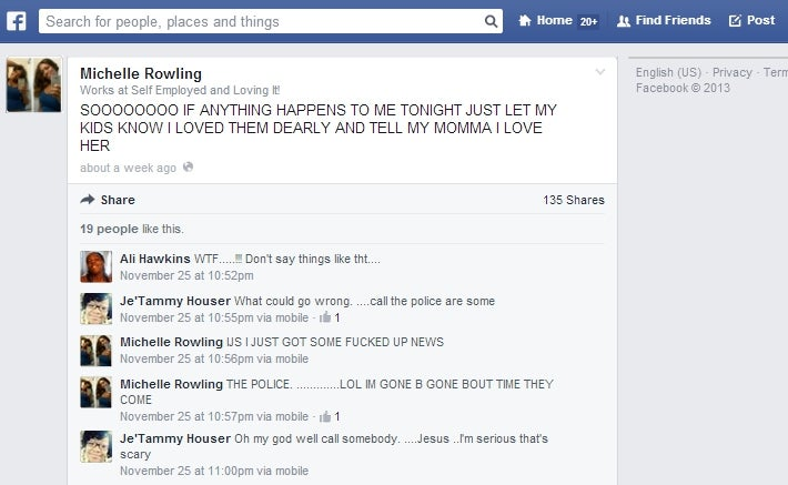 Woman Found Stabbed to Death Left Terrifying Warning Post on Facebook
