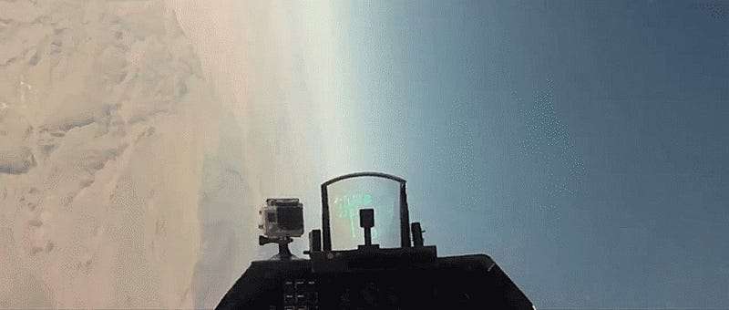 What It Looks Like To Get Shot At By A Surface-To-Air Missile