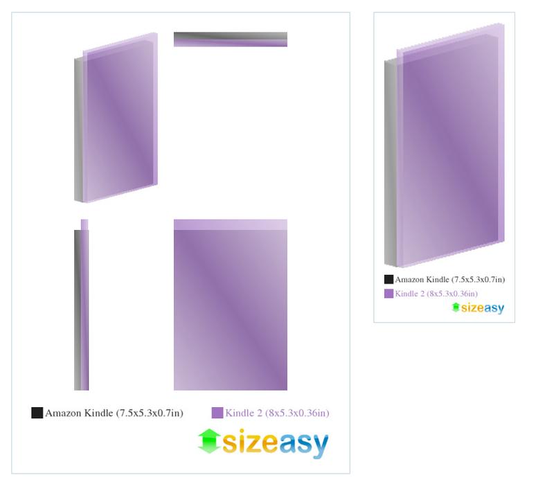 Sizemodo: The Kindle 2 vs Its Predecessor
