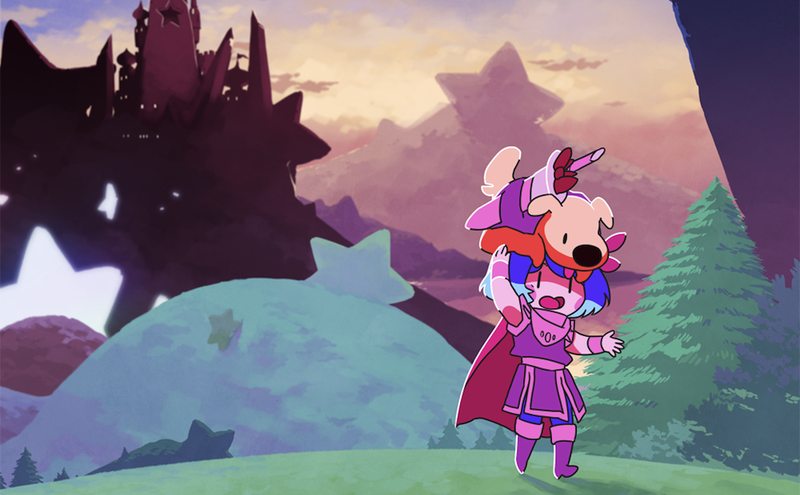 The genre-savvy adventures of a heroic princess and her Battle Dog