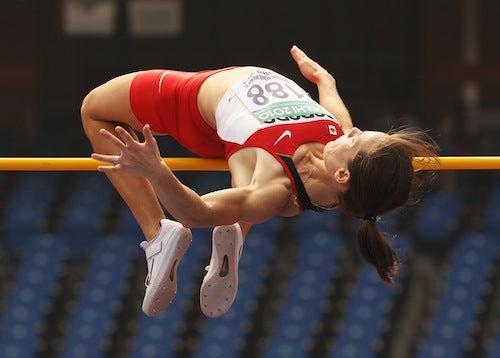 High Jumper Crosses The Line