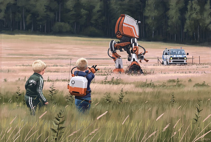 Concept Art Writing Prompt: A Boy and His Robot vs. The Police