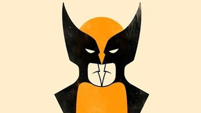 What do you see in this picture: Wolverine or two Batmen?