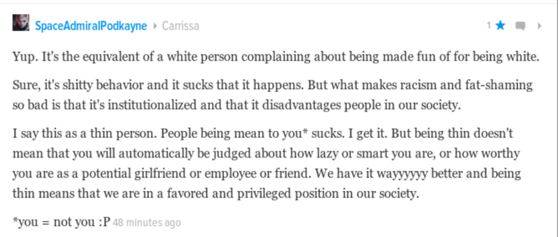 """Why """"thin-shaming"""" offends me."""
