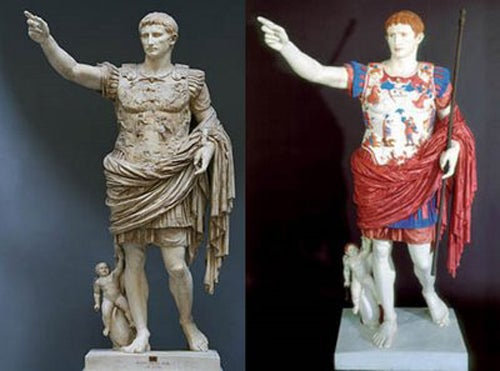 Ultraviolet light reveals how ancient Greek statues really looked
