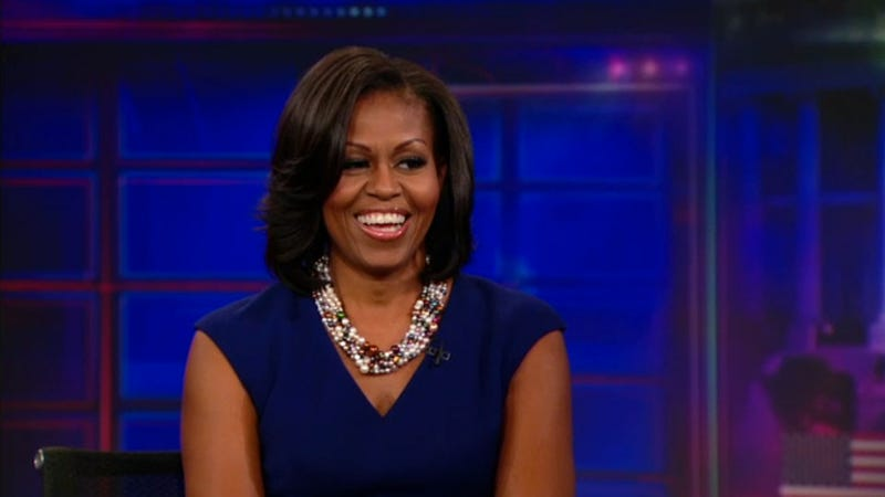 Michelle Obama Doesn't Take Jon Stewart's Bait, Even Though He Promises It's Organic