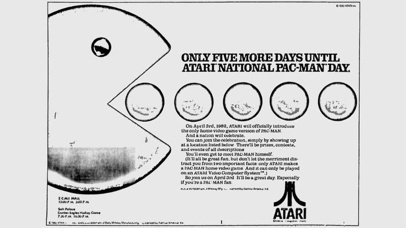 "Today is ""Atari National PAC-MAN Day"". No, Seriously, it is."