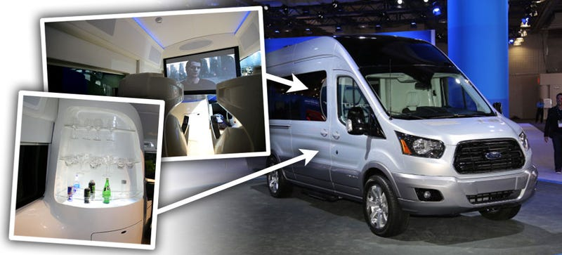 How Ford Crammed A Mind-Blowing Movie Theater Into A Van