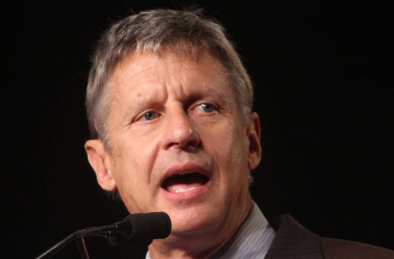 "Libertarian Nominee Gary Johnson Says Donald Trump ""Clearly"" Racist"