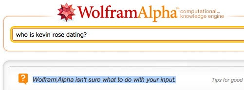 Wake Us When Wolfram Alpha Can Solve an Actual Problem