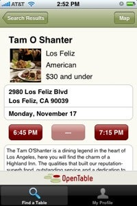 OpenTable Makes Reservations a Snap from Your iPhone