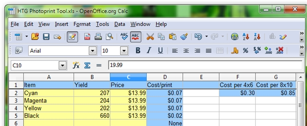Spreadsheet Tells You Whether to Print Photos at Home or Order Out