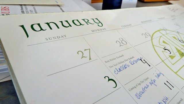 Learn From Past Mistakes by Looking at Last Year's Calendar