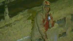 TV Reporter Gives Hurricane Irene Update While Covered in Toxic Waste