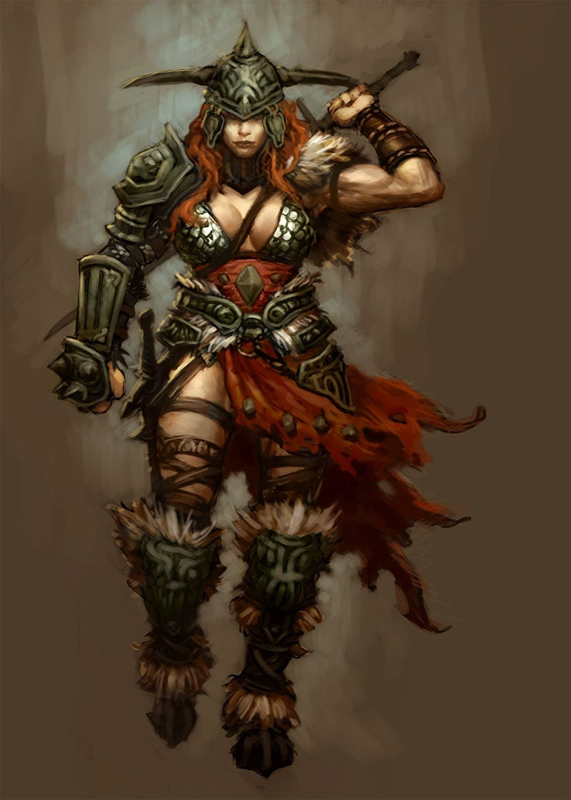 Diablo III's Female Barbarian Is Rather Well-Armored