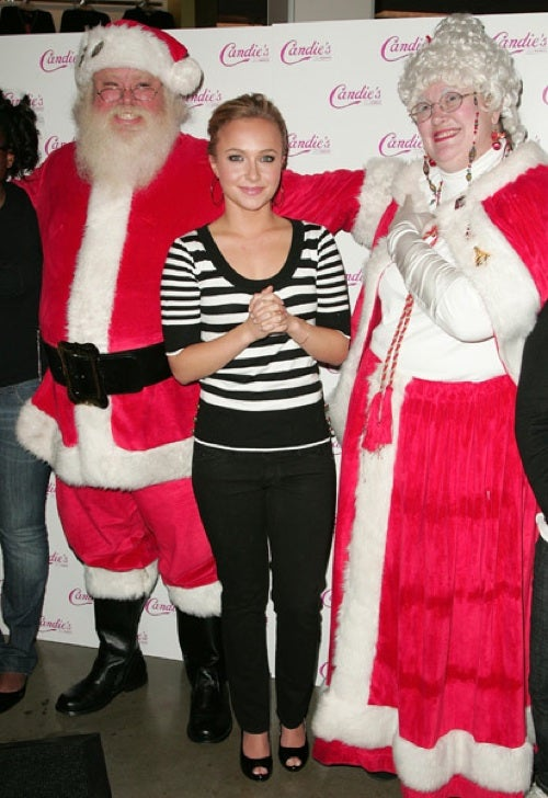 Hayden Meets Mr. & Mrs. Claus