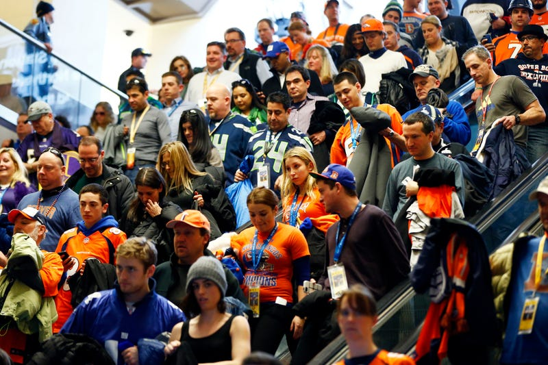 Scenes From The Super Bowl Transit Nightmare