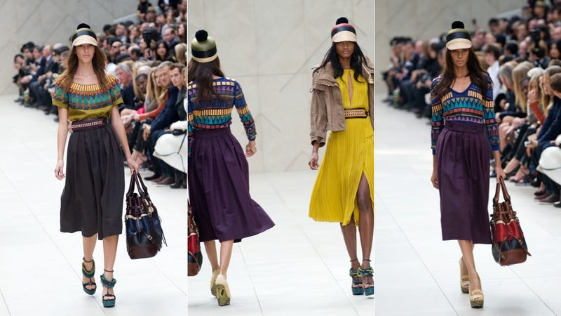For Spring, Burberry Offers A Funky Mishmash With Chunky Shoes