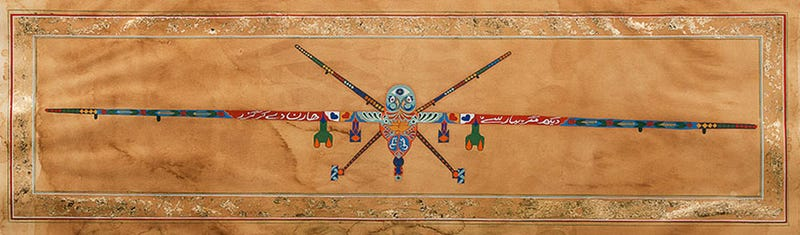 Drones painted as Pakistani truck art.