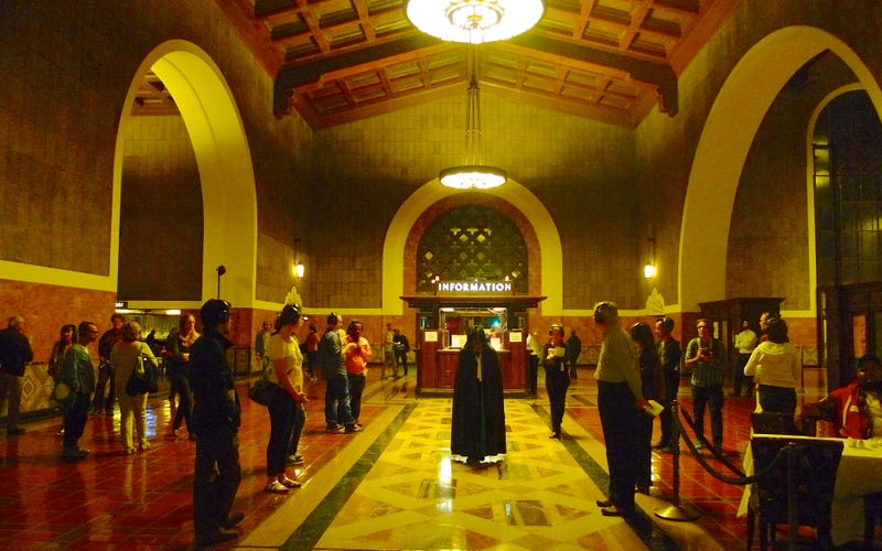 A Secret Opera Erupts Inside California's Biggest Train Depot