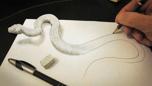 Increíbles ilustraciones 3D... dibujadas en 2D