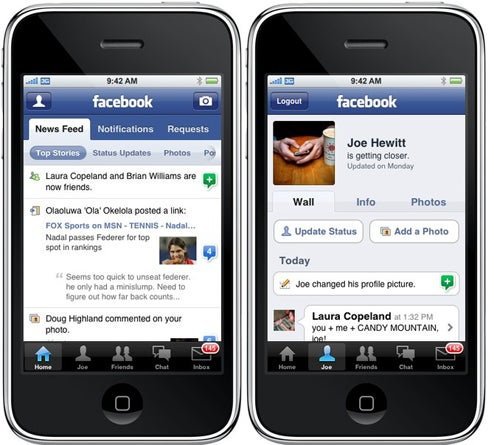 Preview of Facebook for iPhone 2.0: More Like Real Facebook