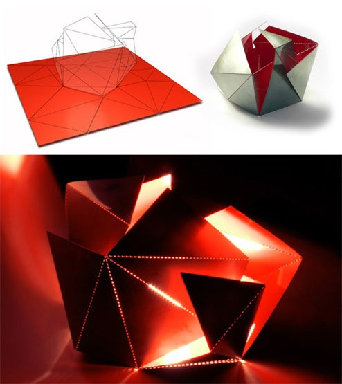 Get Creative With a Folding Origami Lamp