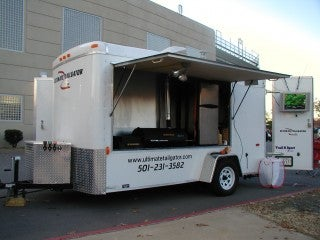 All Star Tailgating Trailer Is Dream Bachelor Flat on Wheels