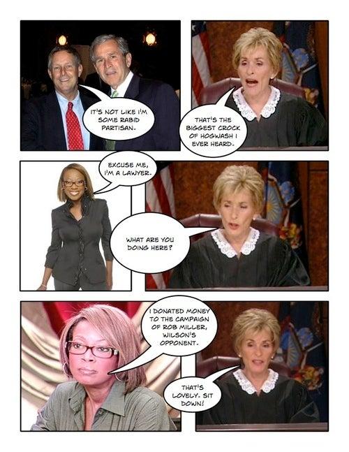Comic Confrontations: Judge Judy Vs. Joe Wilson