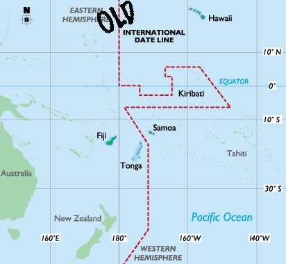 Samoa Jumps 24 Hours into the Future Tonight